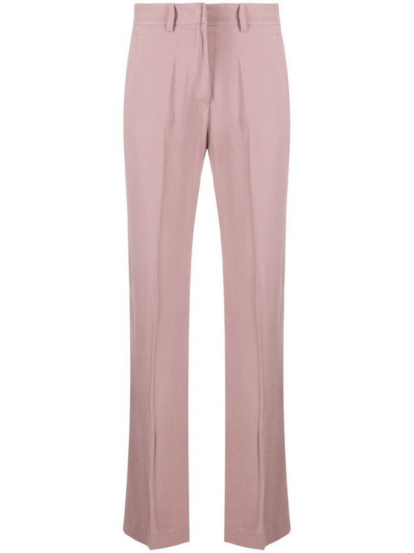 Hebe Studio straight tailored trousers in pink