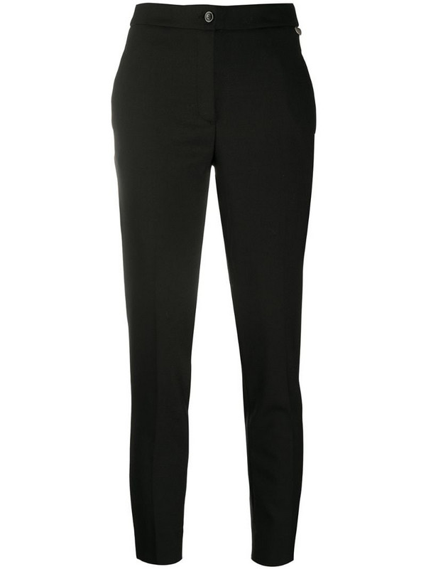 Twin-Set fitted straight leg trousers in black