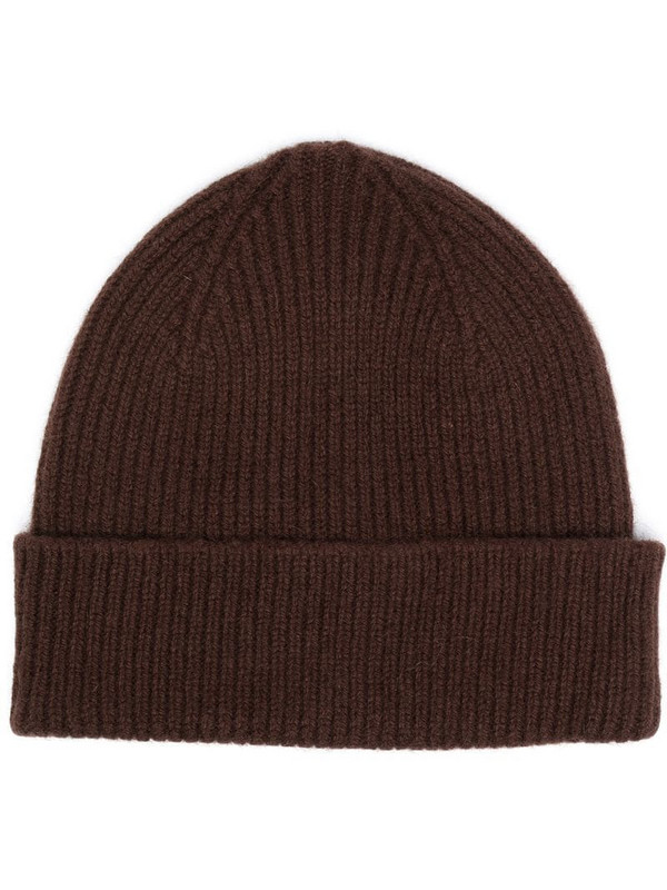 Le Bonnet knitted beanie hat in brown