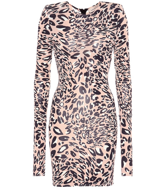 Alexandre Vauthier Leopard-print dress in pink