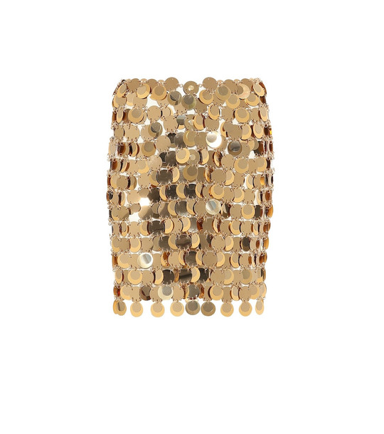 Paco Rabanne Chainmail miniskirt in metallic