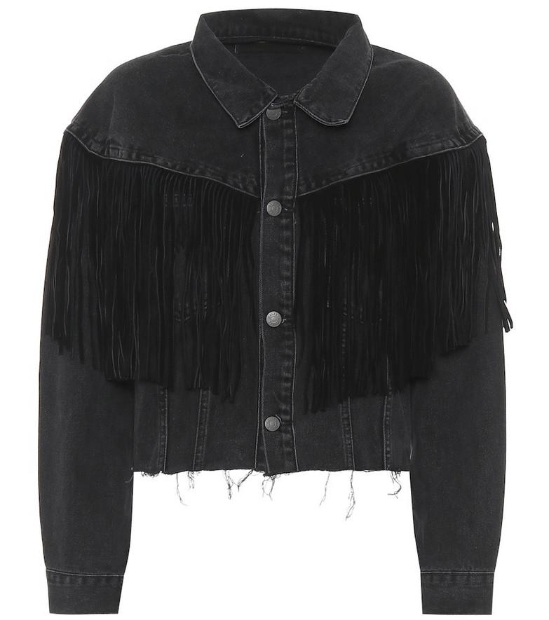 Grlfrnd Freya denim jacket in black