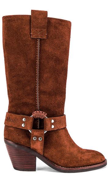 See By Chloe Western Knee High Boot in Brown