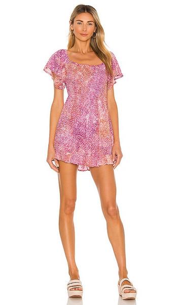 Tiare Hawaii Hendrix Mini Dress in Blush in lilac