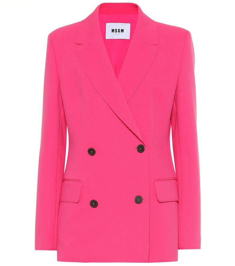 MSGM Crêpe blazer in pink