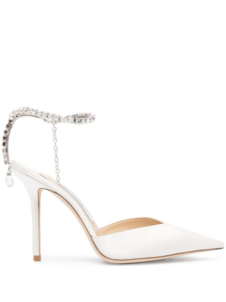 Jimmy Choo Saeda 100mm pumps in white