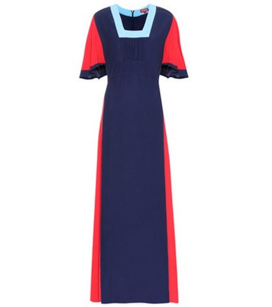 Staud Lagoon maxi dress in blue