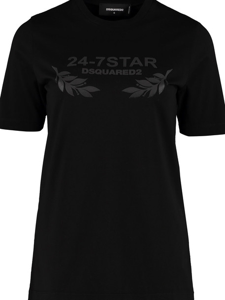 Dsquared2 Cotton T-shirt With Logo in black