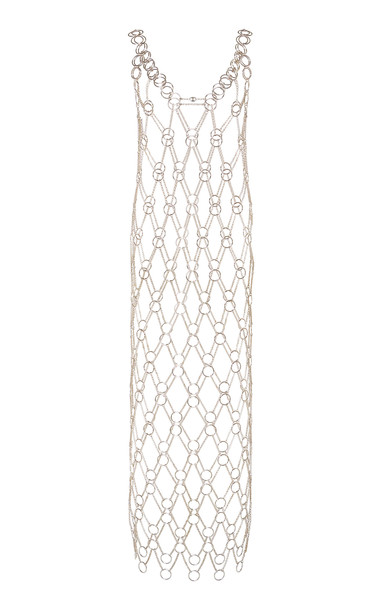 Paco Rabanne Chain-Link Hardware Maxi Dress Size: 34 in gold