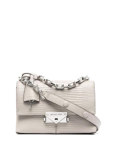 Michael Michael Kors snakeskin-effect leather tote bag in grey