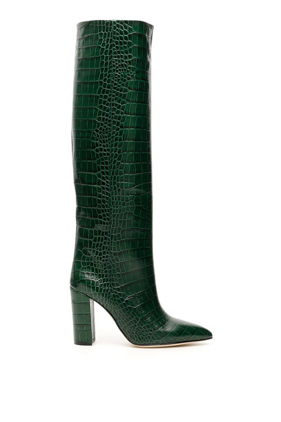 Paris Texas Croc-print Leather Boots
