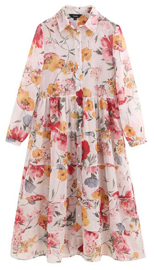 dress floral midi casual occasion boho