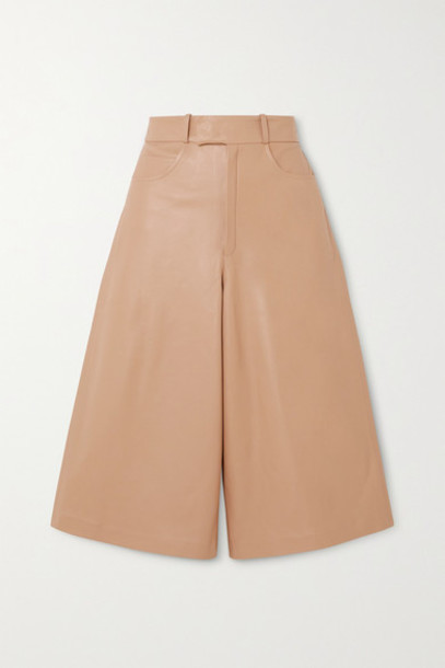 Zeynep Arcay - Leather Shorts - Beige