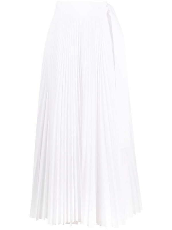P.A.R.O.S.H. pleated maxi skirt in white