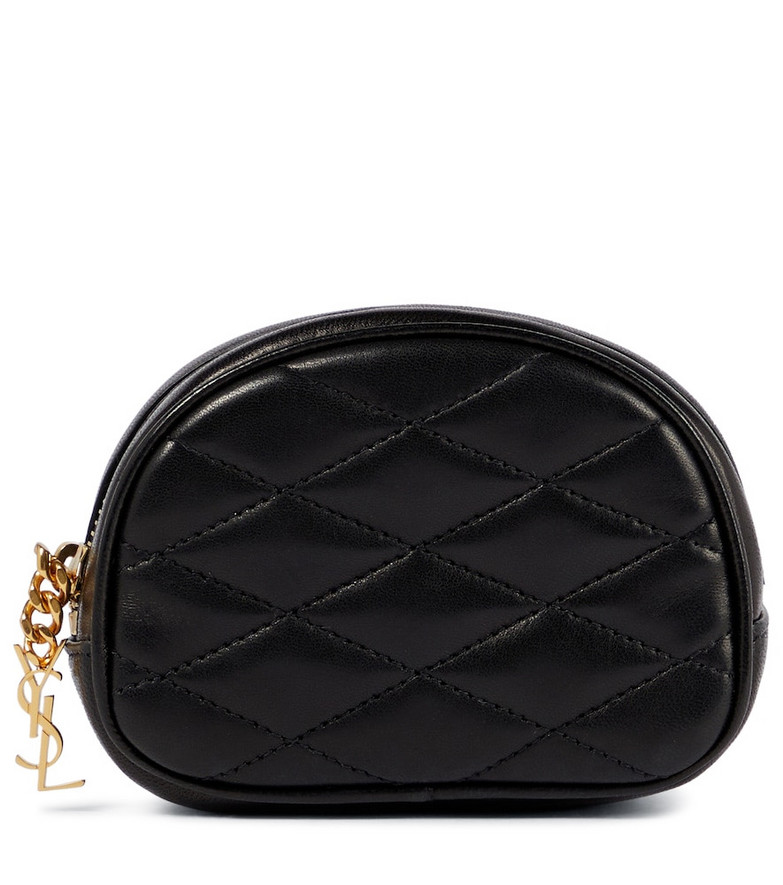Saint Laurent Lolita quilted leather pouch in black