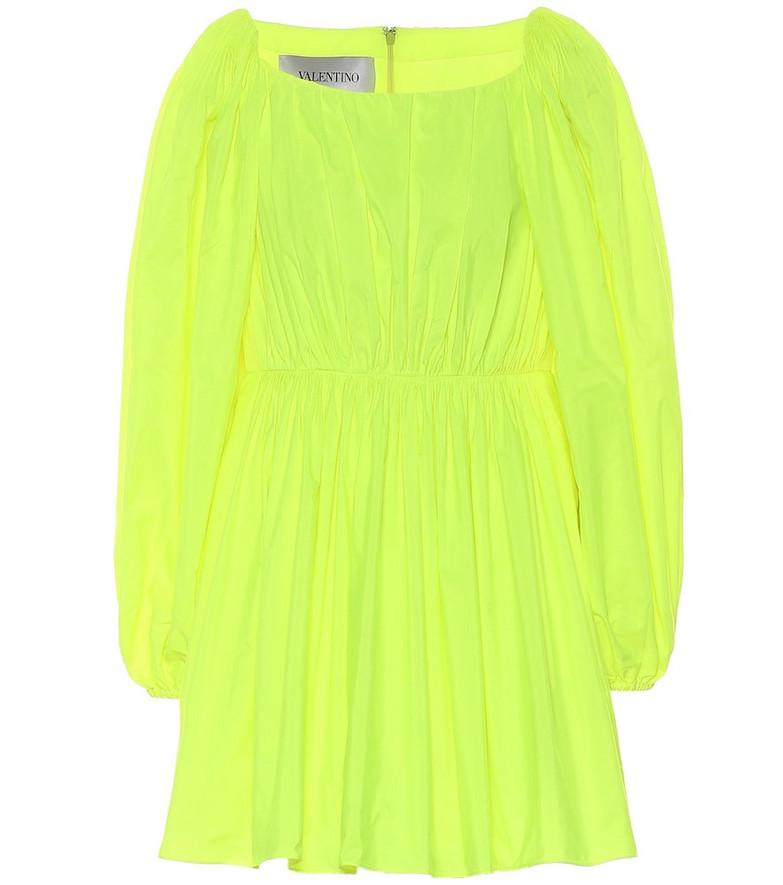 Valentino Taffeta minidress in yellow