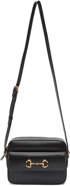 Gucci Black Small 'Gucci 1955' Horsebit Bag in nero