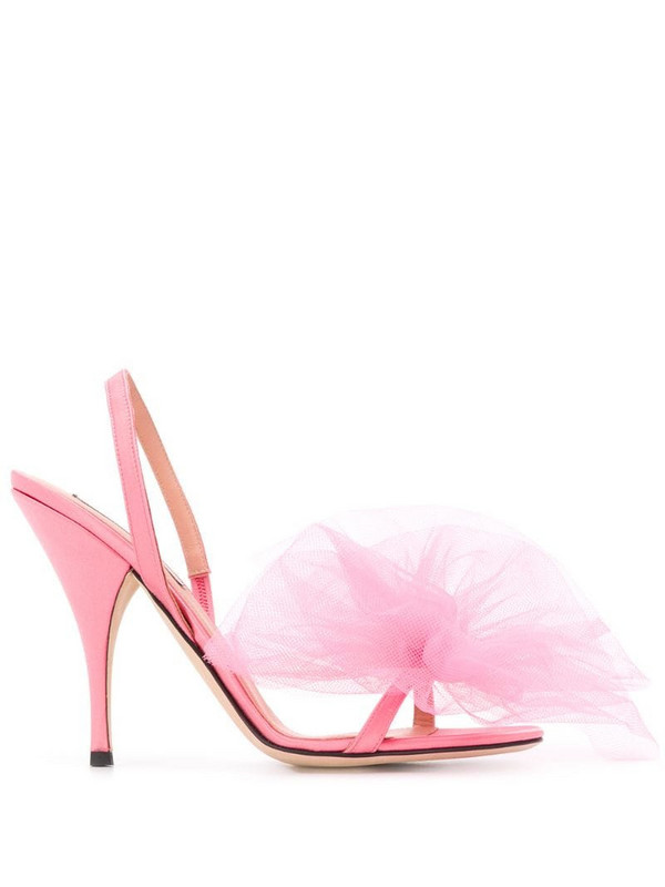 Marco De Vincenzo bow detail sandals in pink