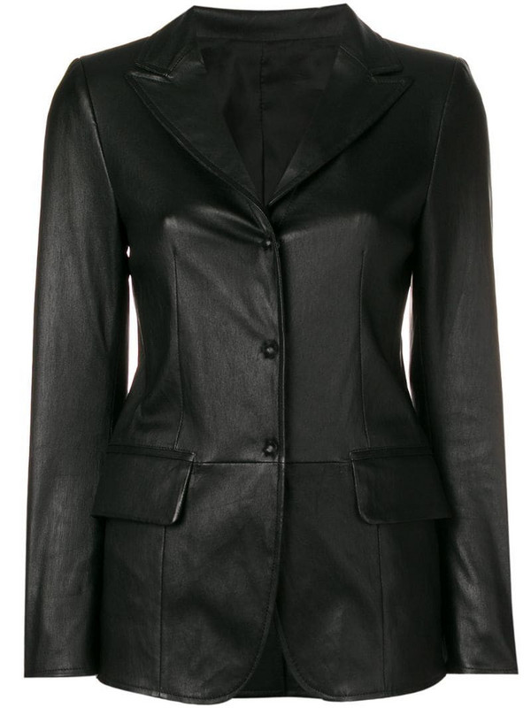 Sylvie Schimmel Lord press stud fitted jacket in black