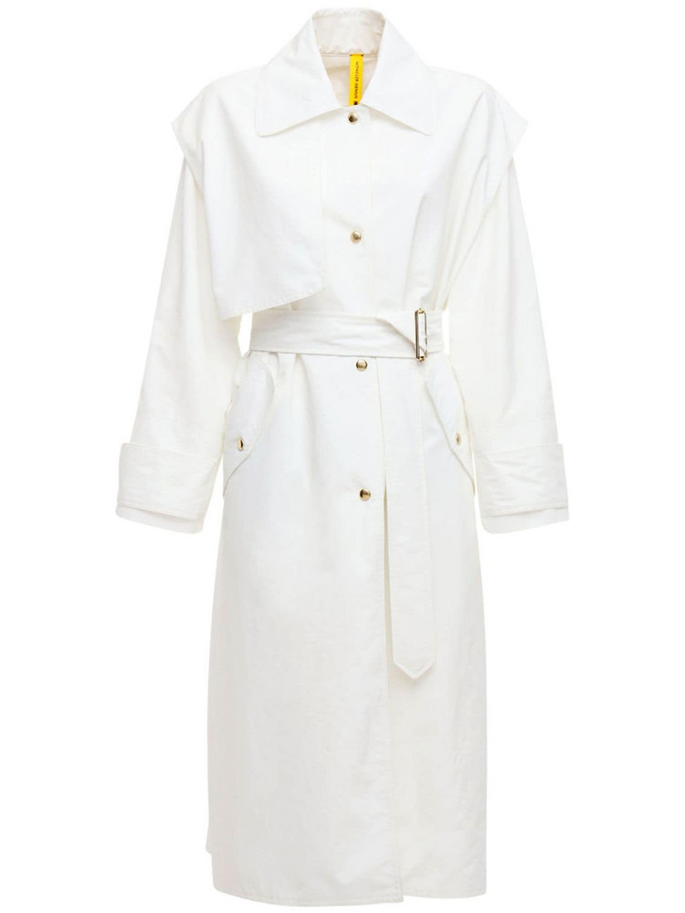 MONCLER GENIUS Coral Tech Trench Coat in white