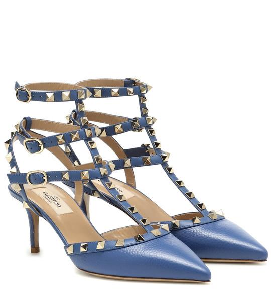 Valentino Garavani Rockstud leather pumps in blue