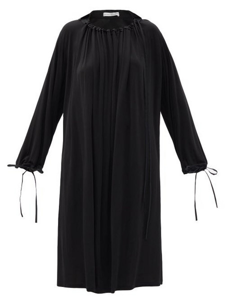 Palmer/harding Palmer//harding - First Moment Ruched-neck Jersey Midi Dress - Womens - Black