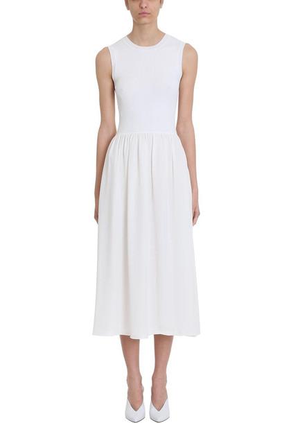 Theory White Silk Dress
