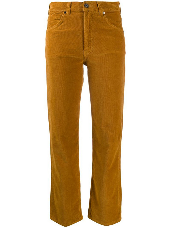 Vanessa Bruno corduroy cropped trousers in brown