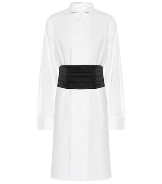 MM6 Maison Margiela Cotton shirt dress in white