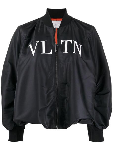 Valentino VLTN-print bomber jacket in black