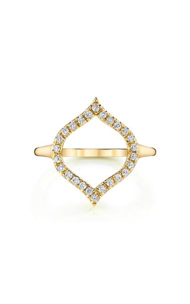 ARK Open Nectar 18K Gold Diamond Ring Size: 7
