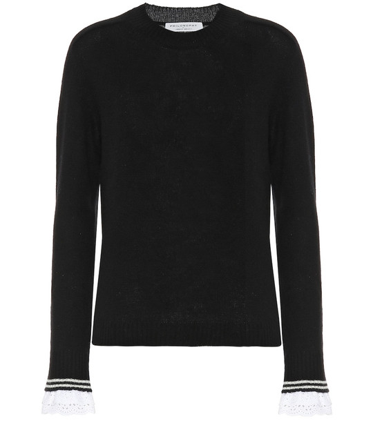Philosophy Di Lorenzo Serafini Cashmere sweater in black