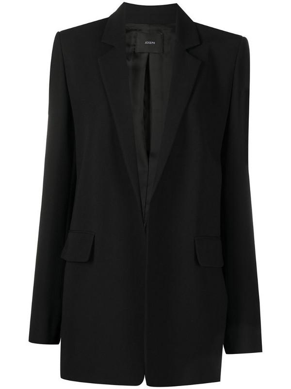 Joseph crepe blazer in black