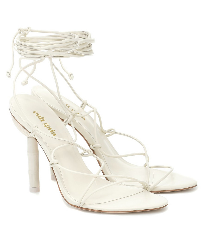 Cult Gaia Exclusive to Mytheresa – Soleil suede sandals in white