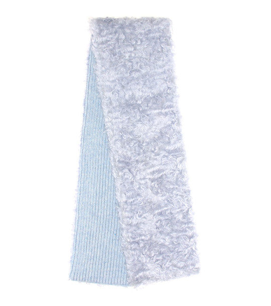Miu Miu Mohair, cotton and virgin wool scarf in blue