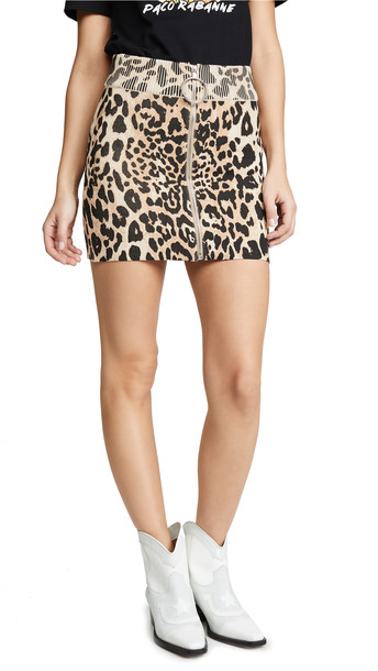 Paco Rabanne Leopard Miniskirt