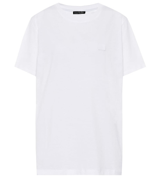 Acne Studios Ellison Face cotton T-shirt in white