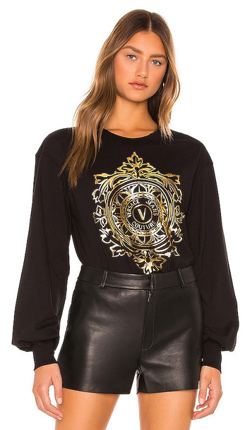Versace Jeans Couture Long Sleeve Tee in Black