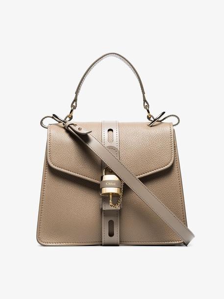 Chloé Chloé Grey Aby small leather shoulder bag
