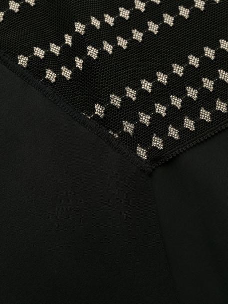 Wacoal Respect sheer panel briefs in black