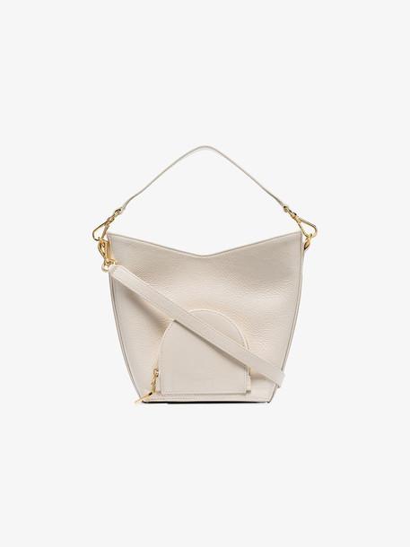 Complét Cream Eva Mini Leather Bucket Bag