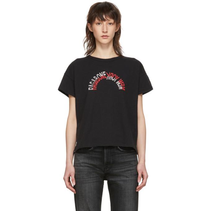 rag and bone rag & bone Black Vintage Logo T-Shirt