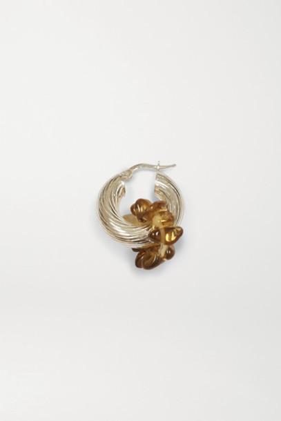 Santangelo - Zuma Silver Quartz Hoop Earrings