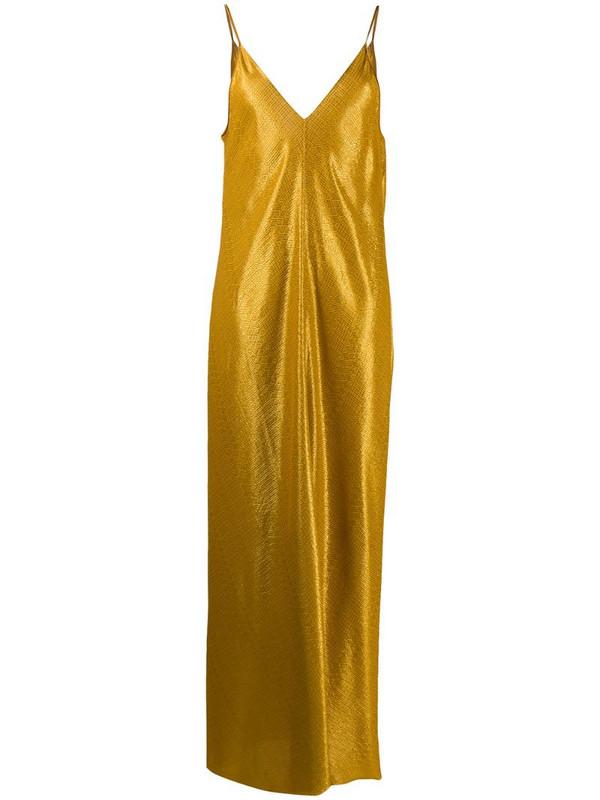 Forte Forte geometric print maxi dress in gold
