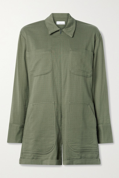RIVET UTILITY - Hotshot Cotton-twill Playsuit - Green