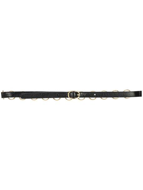 Emilio Pucci chain detail leather belt in black