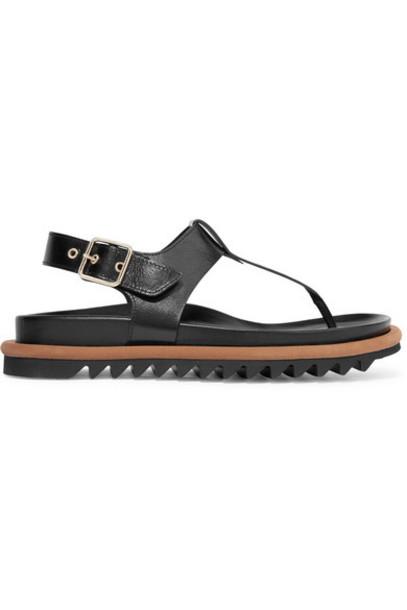 Dries Van Noten - Leather Sandals - Black