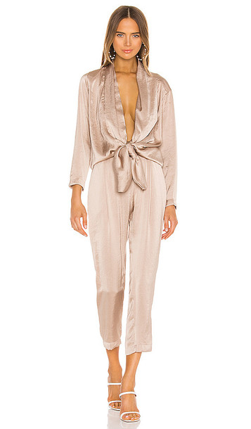 OVERLOVER Stina Jumpsuit in Taupe