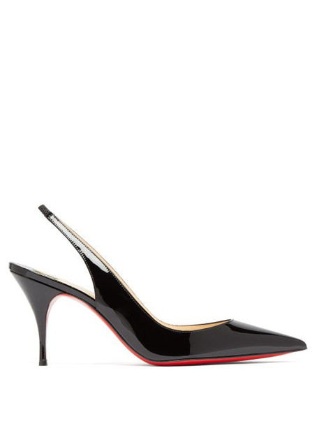Christian Louboutin - Clare 80 Slingback Leather Pumps - Womens - Black