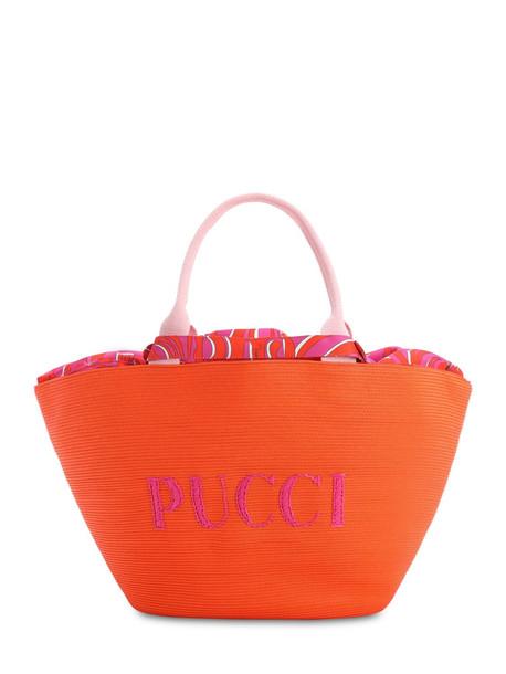 EMILIO PUCCI Riva Beach Logo Bag in orange